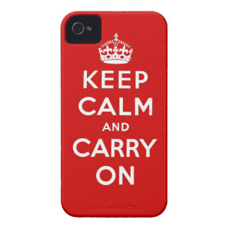 keep calm and carry on Original iPhone 4 Case-Mate Case