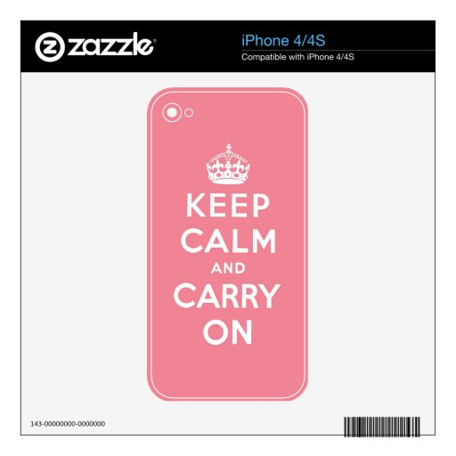 keep calm and carry on Original iPhone 4S Skin
