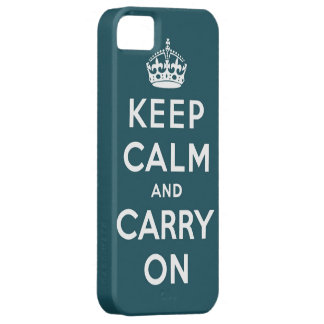 keep calm and carry on Original iPhone SE/5/5s Case