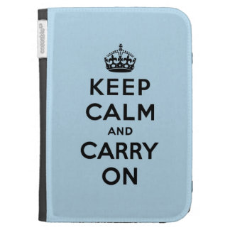keep calm and carry on Original Kindle 3 Cases