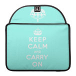keep calm and carry on Original Sleeve For MacBook Pro