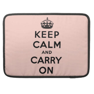 keep calm and carry on Original MacBook Pro Sleeves