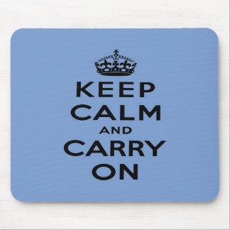 keep calm and carry on Original Mousepads