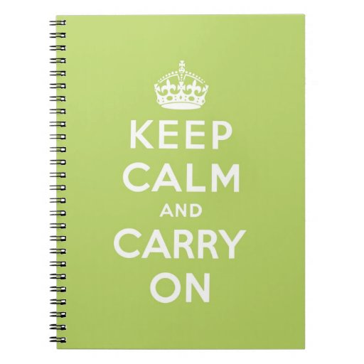 keep calm and carry on Original Note Books