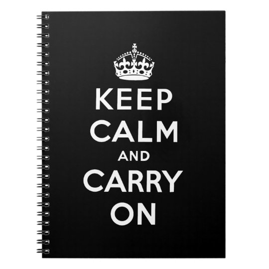 keep calm and carry on Original Notebook