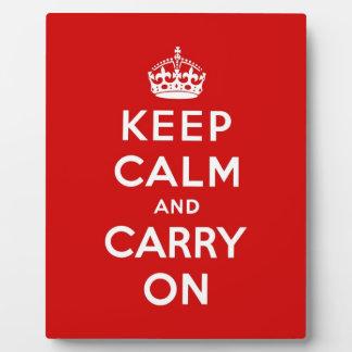 keep calm and carry on Original Photo Plaque