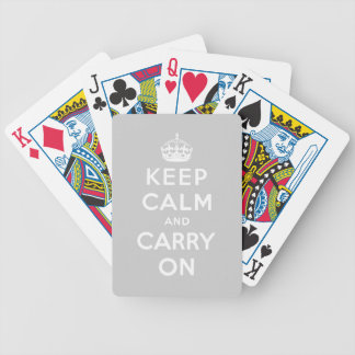 keep calm and carry on Original Bicycle Poker Cards