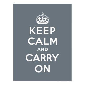keep calm and carry on Original Post Card