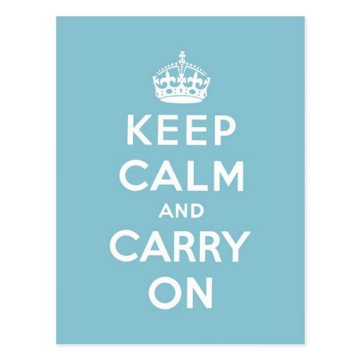 keep calm and carry on Original Postcard