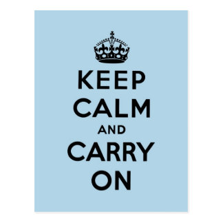 keep calm and carry on Original Postcard
