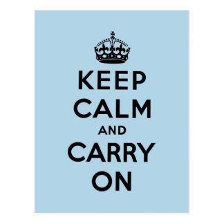 keep calm and carry on Original Postcards