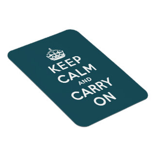 keep calm and carry on Original Rectangle Magnet