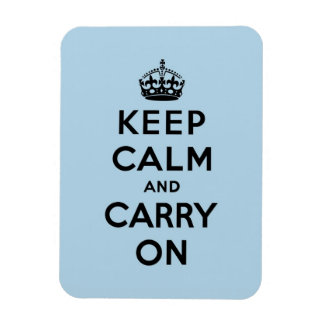 keep calm and carry on Original Rectangle Magnets