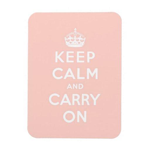 keep calm and carry on Original Rectangular Photo Magnet
