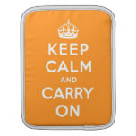 keep calm and carry on Original Sleeves For iPads