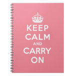 keep calm and carry on Original Spiral Note Book