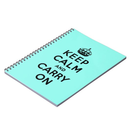 keep calm and carry on Original Spiral Notebook