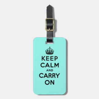 keep calm and carry on Original Tag For Luggage