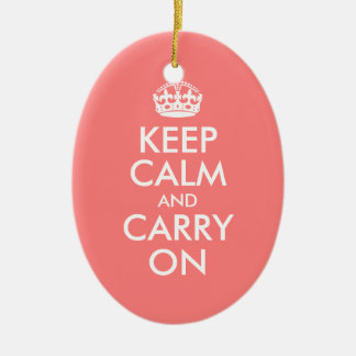 Keep Calm and Carry On Ornament