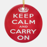 Keep Calm and Carry On Ornaments