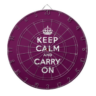 Keep Calm and Carry On Passionate Purple Dartboards