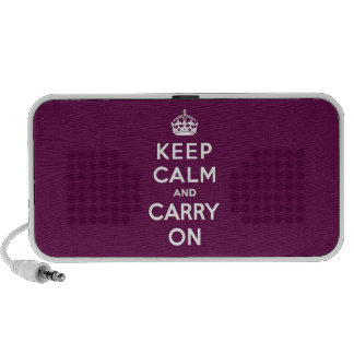 Keep Calm and Carry On Passionate Purple Laptop Speakers