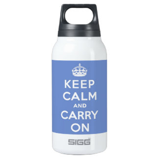 Keep Calm and Carry On Pastel Blue SIGG Thermo 0.3L Insulated Bottle