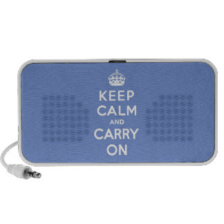 Keep Calm and Carry On Pastel Blue Mp3 Speaker
