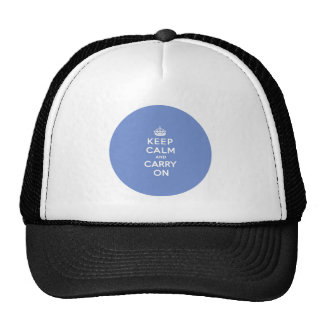 Keep Calm and Carry On Pastel Blue Trucker Hat