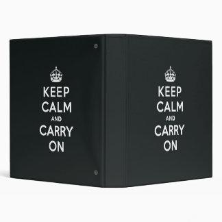 Keep Calm and Carry On Paynes Grey Binder