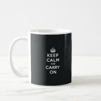 Keep Calm and Carry On Paynes Grey Coffee Mug