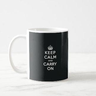 Keep Calm and Carry On Paynes Grey Coffee Mug