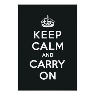 Keep Calm and Carry On Paynes Grey Poster