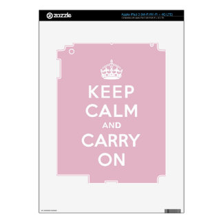 Keep Calm and Carry On Persian Rose Decals For iPad 3