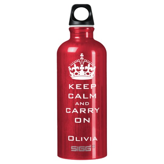 KEEP CALM AND CARRY ON PERSONALIZED WATER BOTTLE