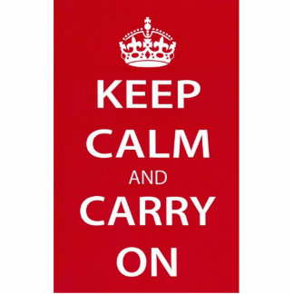 Keep Calm and Carry On Cut Out