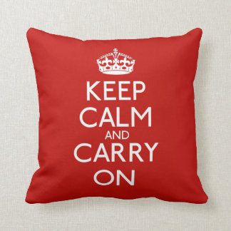 Keep Calm And Carry On Pillows