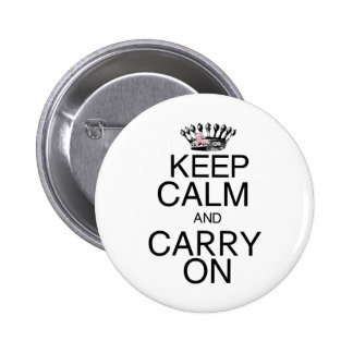 Keep Calm and Carry On Pink Ribbon Pinback Buttons