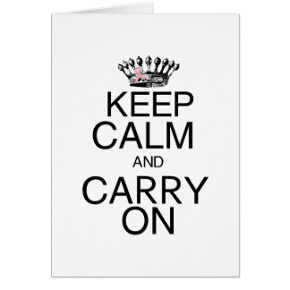 Keep Calm and Carry On Pink Ribbon Card
