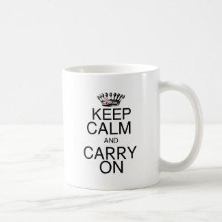 Keep Calm and Carry On Pink Ribbon Coffee Mug