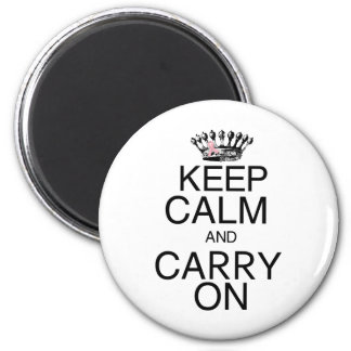 Keep Calm and Carry On Pink Ribbon Magnet