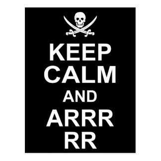 Keep Calm And Carry On Pirate Style 2 Postcard