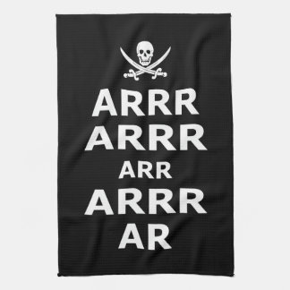 Keep Calm And Carry On Pirate Style Hand Towel