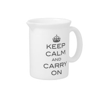Keep Calm and Carry On Pitcher - Grey