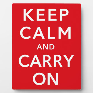 Keep Calm and Carry On Plaque