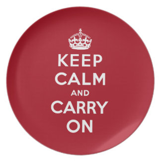 Keep Calm And Carry On Plates