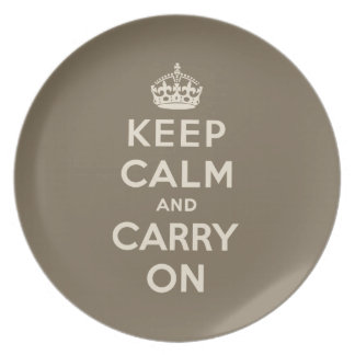 Keep Calm And Carry On Dinner Plates