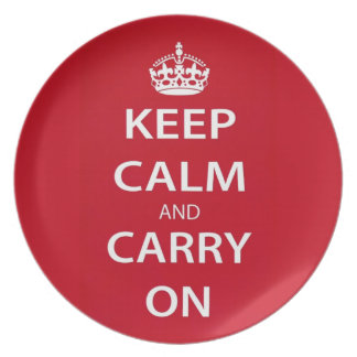 Keep Calm and Carry On Dinner Plate