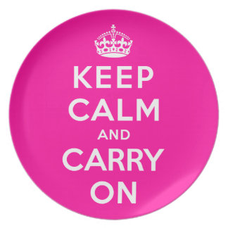 Keep Calm and Carry On Plate