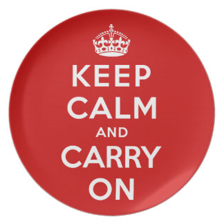 Keep Calm and Carry On Party Plates